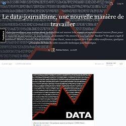 Le data-journalisme, une nouvelle manière de travailler - storify.com