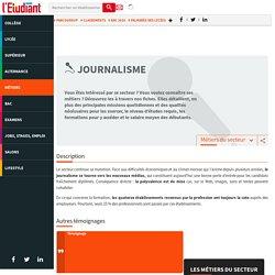 Journalisme : travailler dans le secteur du journalisme - - L'Etudiant