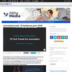 Journalisme web : 10 tendances pour 2016