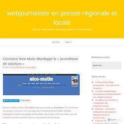 Comment Nice-Matin développe le «journalisme de solutions» – webjournaliste en presse régionale et locale