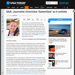 Q&A: Journalist chronicles 'GamerGate' as it unfolds