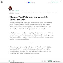 28+ Apps That Make Your Journalist's Life Easier Than Ever — Digital Journalism Rocks