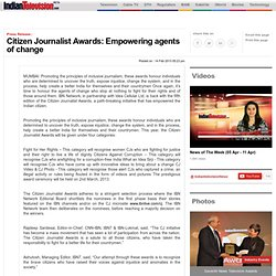 News Releases > Citizen Journalist Awards: Empowering agents of change