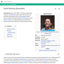 Sarah Harrison (journalist)