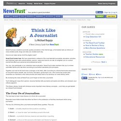 Think Like A Journalist - A News Literacy Guide from NewsTrust.n