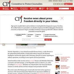 Somali journalist arrested after speaking out against censorship