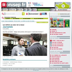 EPI ONISEP Journaliste scientifique 2
