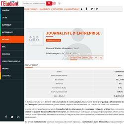 Journaliste d'entreprise du secteur Communication - La fiche métier de l'Etudiant