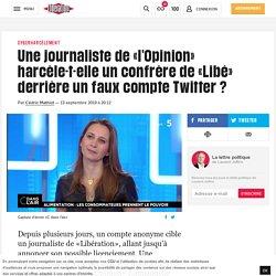 Une journaliste de «l'Opinion» harcèle-t-elle un confrère de «Libé» derrière un faux compte Twitter?