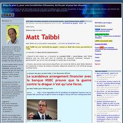 Matt Taibbi, journaliste exemplaire contre les pires gredins : après Goldman-Sachs, HSBC !
