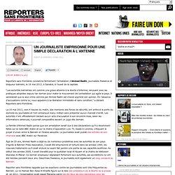 Un journaliste emprisonné pour une simple déclaration à l'antenne