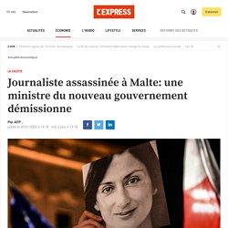 Journaliste assassinée à Malte: une ministre du nouveau gouvernement démissionne