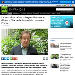 Un journaliste refuse la Légion d'honneur et dénonce l'état de la liberté de la presse en France