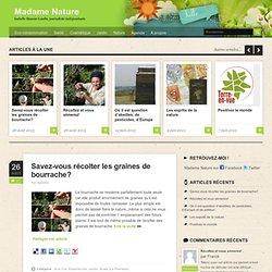 Madame Nature, le blog de la journaliste Isabelle Masson-Loodts