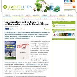 2010/05/18 - Un journaliste met en lumière les méthodes douteuses de Claude Allègre