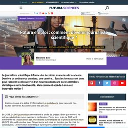 Futura emploi : comment devenir journaliste scientifique ?
