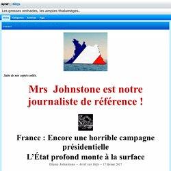 MRS JOHNSTONE EST NOTRE JOURNALISTE DE RÉFÉRENCE : Les grosses orchades, les amples thalamèges..