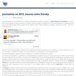 Journaliste: en 2012, trouvez votre Starsky. - Damien Van Achter