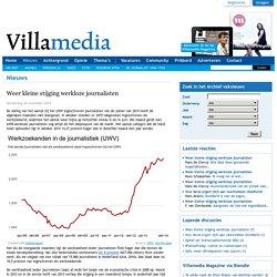 Weer kleine stijging werkloze journalisten