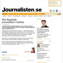 Fler fängslade journalister i världen