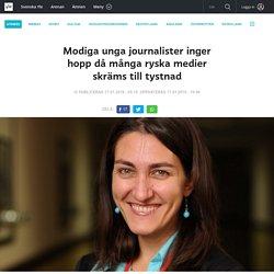 Modiga unga journalister inger hopp då många ryska medier skräms till tystnad