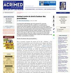 Hadopi contre le droit d'auteur des journalistes