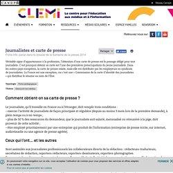 Journalistes et carte de presse- CLEMI