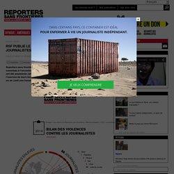 RSF publie le bilan 2014 des violences contre les journalistes
