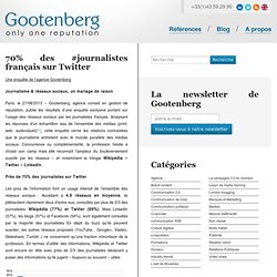 70% des #journalistes français sur Twitter