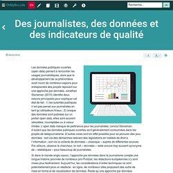 Des journalistes, des données et des indicateurs de qualité