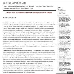 Droits d'auteur des journalistes sur Internet : une piste pour s