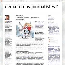 La mort des journaux... et d'un certain journalisme?