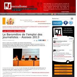 Le Baromètre de l'emploi des journalistes - Assises 2013
