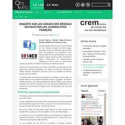 Enquête sur les usages des réseaux sociaux par les journalistes français