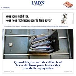 Aux Etats-Unis, les journalistes se lancent en solo dans les newsletters