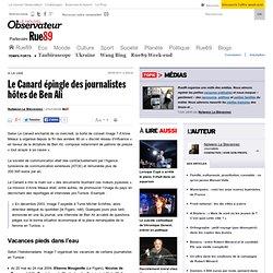 Le Canard épingle des journalistes hôtes de Ben Ali