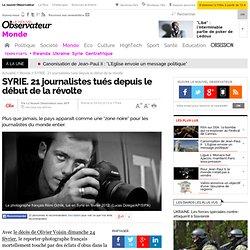 SYRIE. 21 journalistes tués depuis le début de la révolte - 24 février 2013