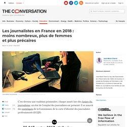 Les journalistes en France en2018: moinsnombreux, plus defemmes etplus précaires