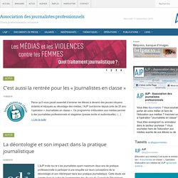 AJP - Association des journalistes professionnels