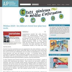 Association des journalistes professionnels - Etats généraux des médias d'information