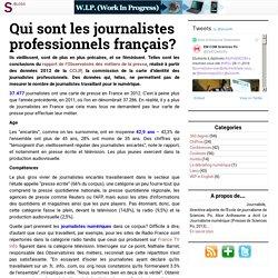 Qui sont les journalistes professionnels français?