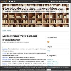 Les différents types d'articles journalistiques - Le blog de colutheanna.over-blog.com