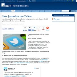How journalists use Twitter