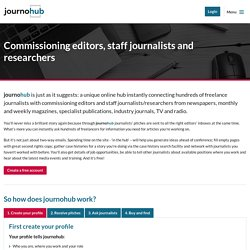 journohub - connecting freelance journalists to commissioning editors