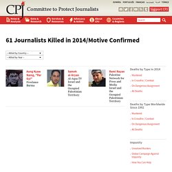 Journalists Killed in 2014