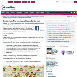 Five ways journalists used online tools