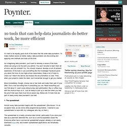 10 tools that can help data journalists do better work, be more efficient