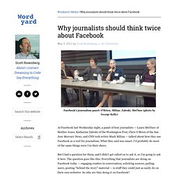 Why journalists should think twice about Facebook