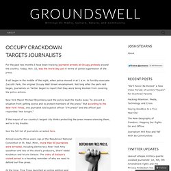 Occupy Crackdown Targets Journalists « Groundswell