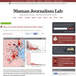Open-source Weave liberates data for journalists, citizens
